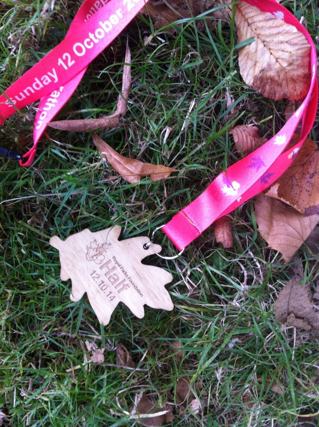Wooden finishers' medal!